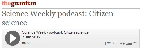 Click to listen to this podcast about citizen science