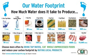 Our water footprint